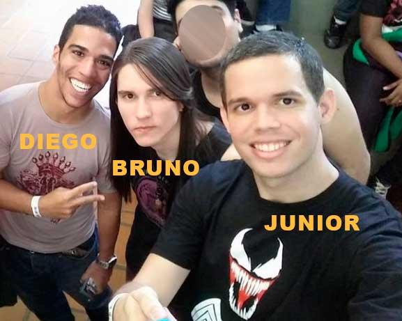 Bruno, Diego e Junior